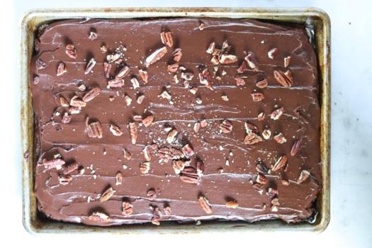 Vegan Texas sheet cake