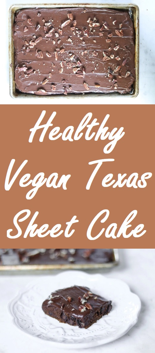 healthy vegan texas sheet cake cinnamon chococlate spice cake
